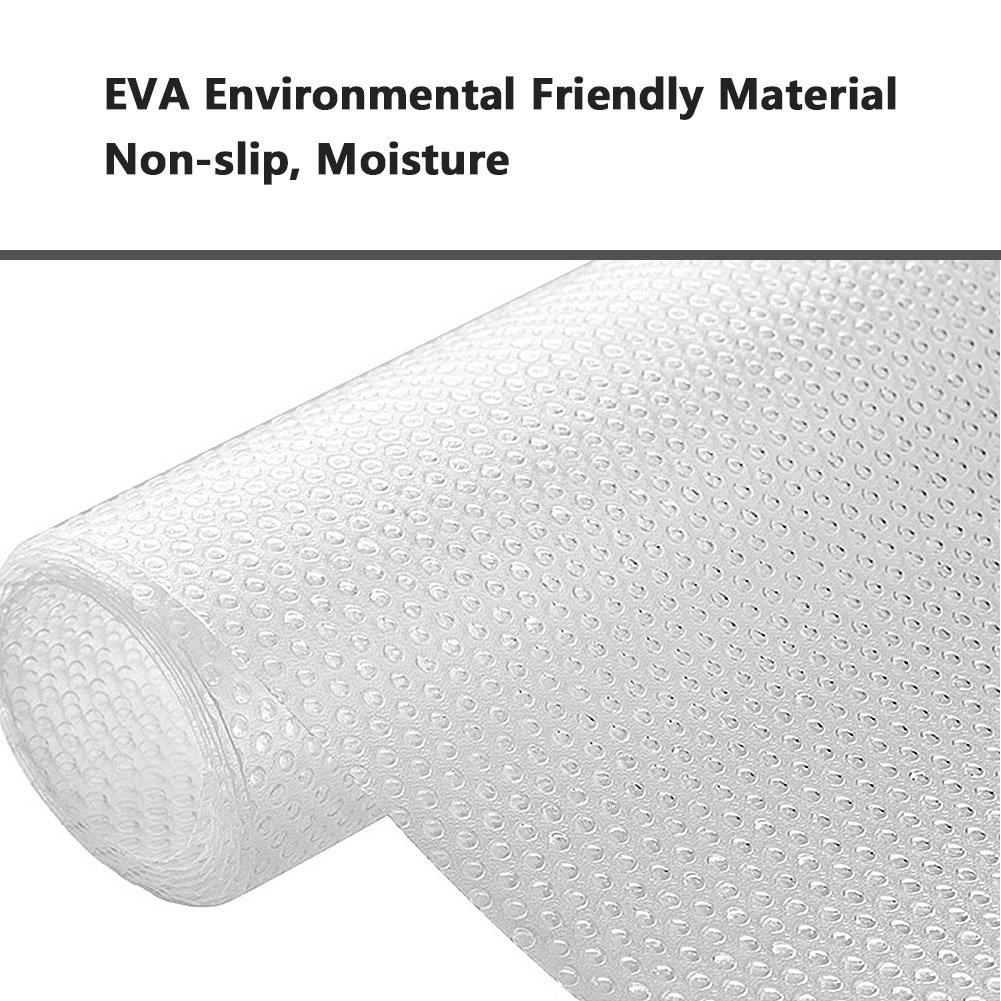Tappeti frigo in silicone ideali per frigorifero 45 * 120 cm ecc. OFNMY Basi antiscivolo EVA trasparenti multifunzione bancone della cucina cassetto