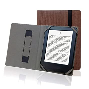 Cáñamo natural funda para lector de eBook de 6