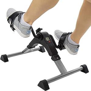 Vive Desk Bike Cycle - Foot Pedal Exerciser - Foldable Portable Foot, Hand, Arm, Leg Exercise Pedaling Machine - Folding Mini Stationary Bike Pedaler, Fitness Rehab Gym Equipment