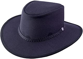 product image for Head 'N Home Handmade Hats - SolAir Brand Cabana Black Breathable Mesh Sun Hat - Size X-Large