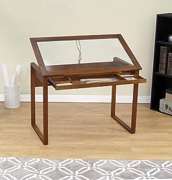 Studio Designs Kiefer Tisch, Glas/Holz, braun: Amazon.de: Küche ...
