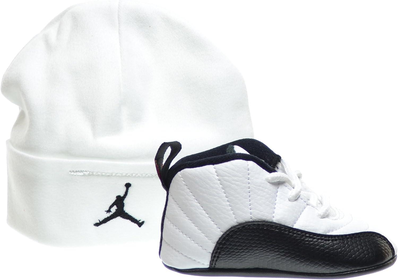 Amazon.com | Jordan 12 Retro Taxi Infants Shoes Gift Pack White ...