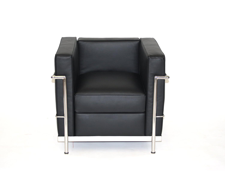 Sillón Charles L. Corbusier LC2-1, de Piel, Color Negro ...