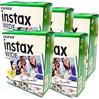 Fujifilm Instax Wide – verpakking met 5 verpakkingen met elk 20 films (100 grote foto's) voor Fuji Instax 210, 200, 100…