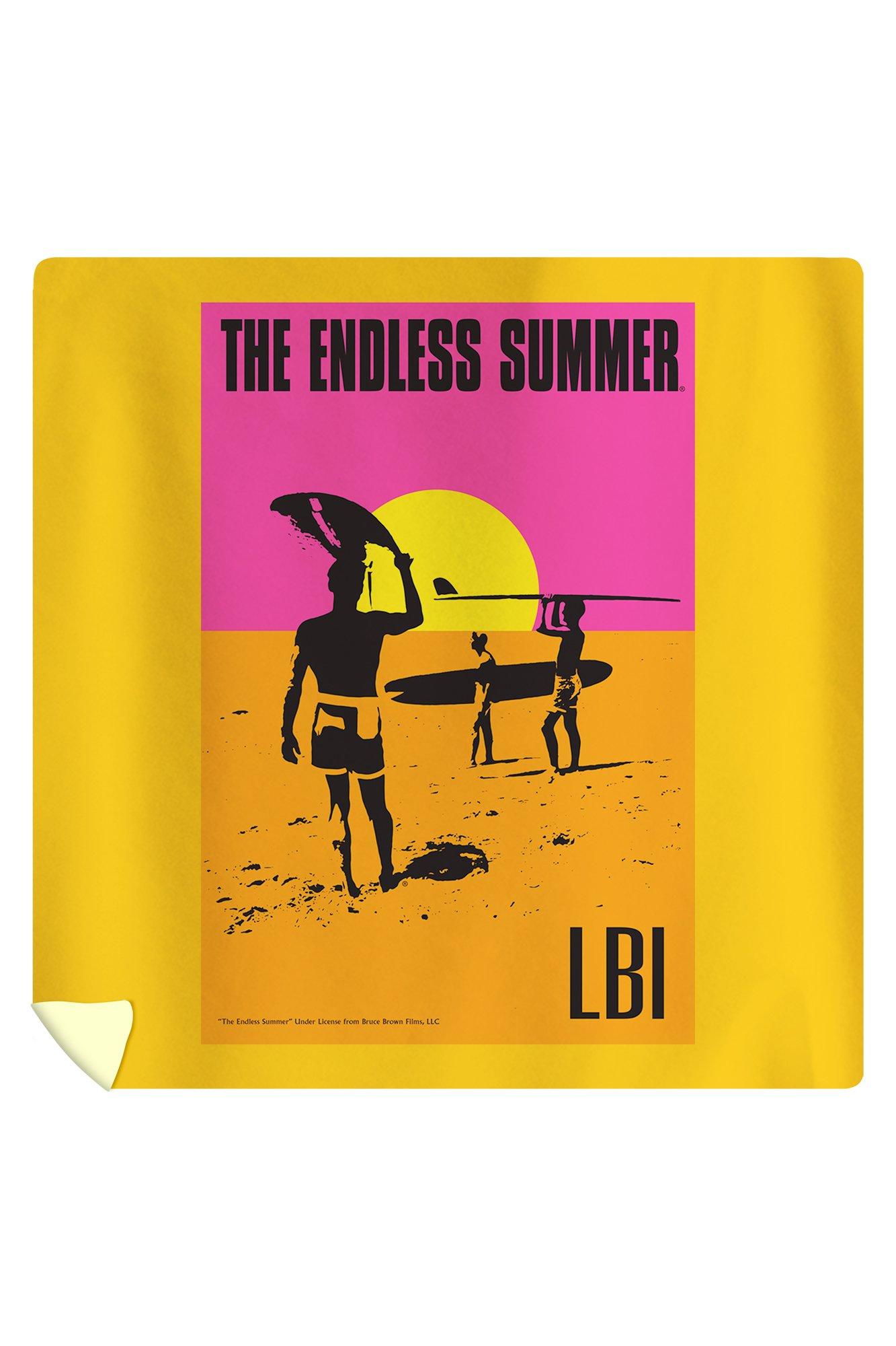 LBI - The Endless Summer - Original Movie Poster (88x88 Queen Microfiber Duvet Cover)