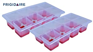 Frigidaire 2 Pack Easy Pop Out Silicone Bottom Jumbo Ice Cube Trays