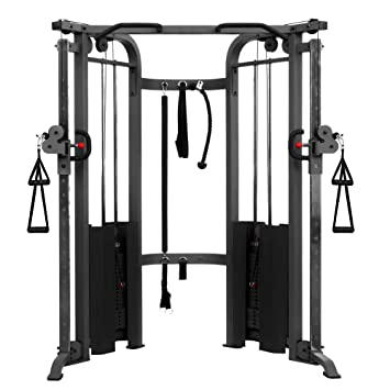 XMark Functional Trainer Cable Machine with Dual 200 lb Weight Stacks XM-7626 (Gray or White)