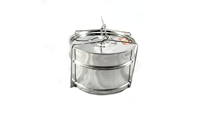 ba766fbdcb7 Manav Stainless Steel Cooker Separator Big Set Compatible With Any 7.5L  Outer Lid Pressure Cookers