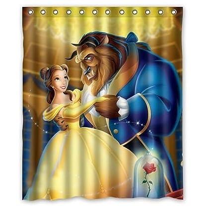 I Manggo Custom Beauty And Beast Bathroom Shower Curtain Inch