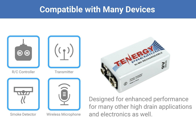 20 pcs of Tenergy Premium 9V 200mAh NiMH Rechargeable Batteries by Tenergy (Image #4)