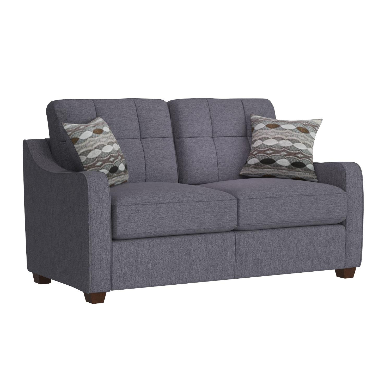Acme Furniture 53791 Cleavon II Loveseat with 2 Pillows, Gray Linen by Acme Furniture