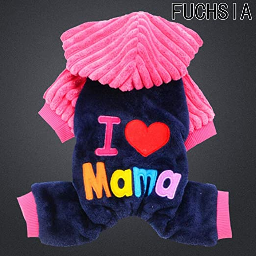 dfgjdryt Disfraces de Moda para Mascotas, I Love Papa/I Love Mama ...