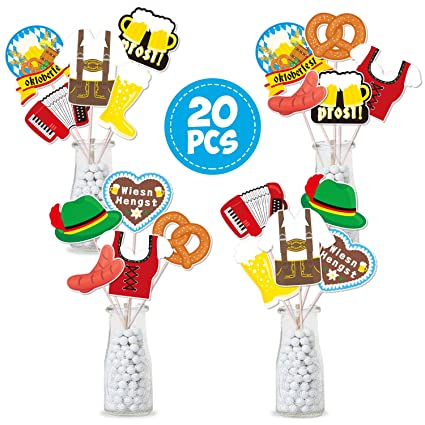 Oktoberfest Centerpiece Sticks German Beer Party Decorations Germany Table Toppers Perfect For The Oktoberfest German Beer Party German Munich Beer