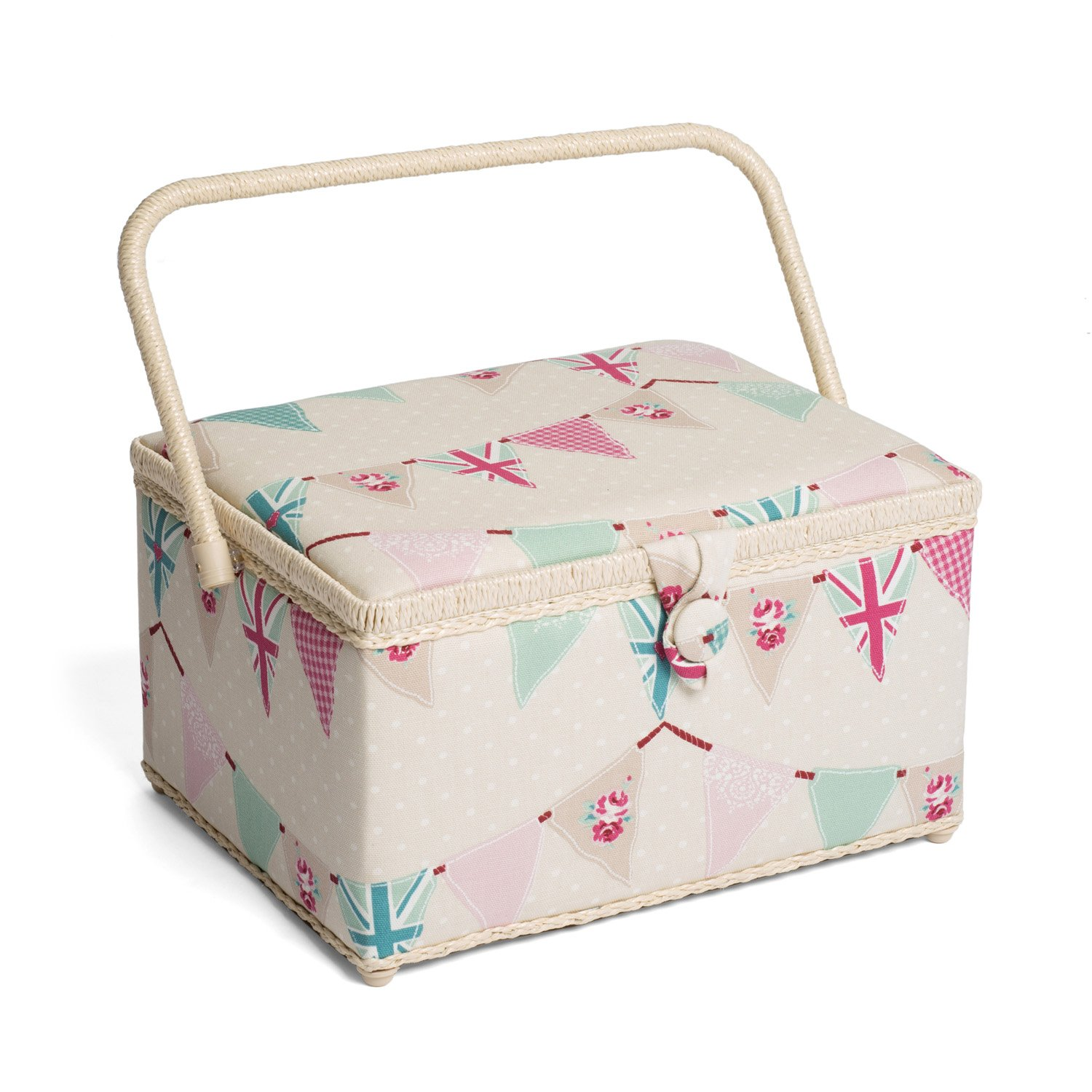 Hobby Gift HGL/234 | Bunting Print Large Sewing Basket | 24x31½x19½cm