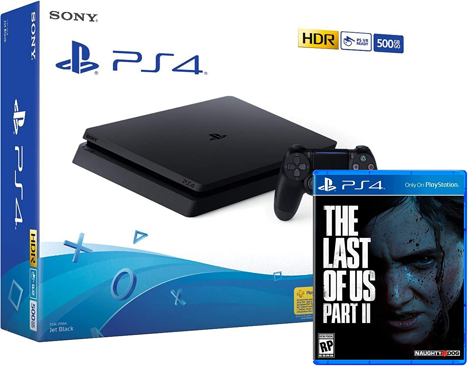PS4 Slim 500Gb Negra Playstation 4 Consola + The Last Of Us 2 ...