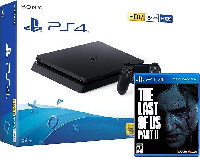 PS4 Slim 500Gb Negra Playstation 4 Consola + The Last Of Us 2: Amazon.es: Videojuegos