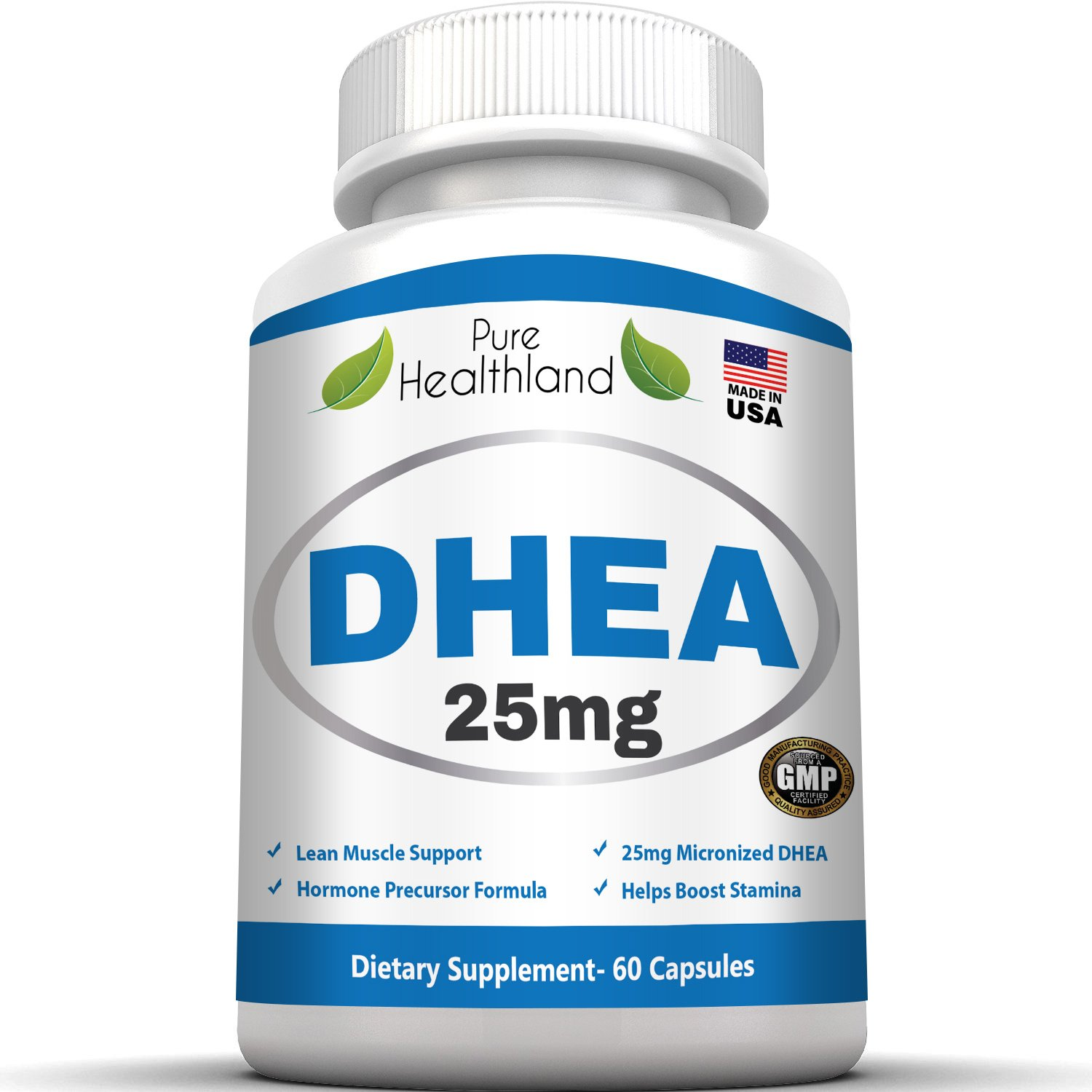 DHEA Supplement Capsules 25mg for Men and Women. Ultimate Nutrition to Balance Hormones, Support Anti-Aging, Increase Energy, Improve Mood, Boost Libido for Males and Females, Protect Immune System