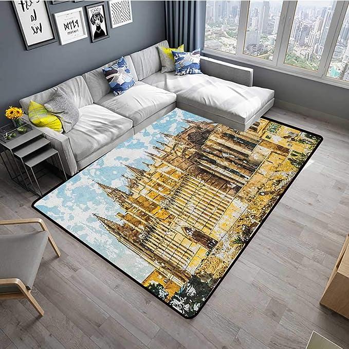 Amazon.com: Gothic Home Custom Floor mat Big Gothic Building ...