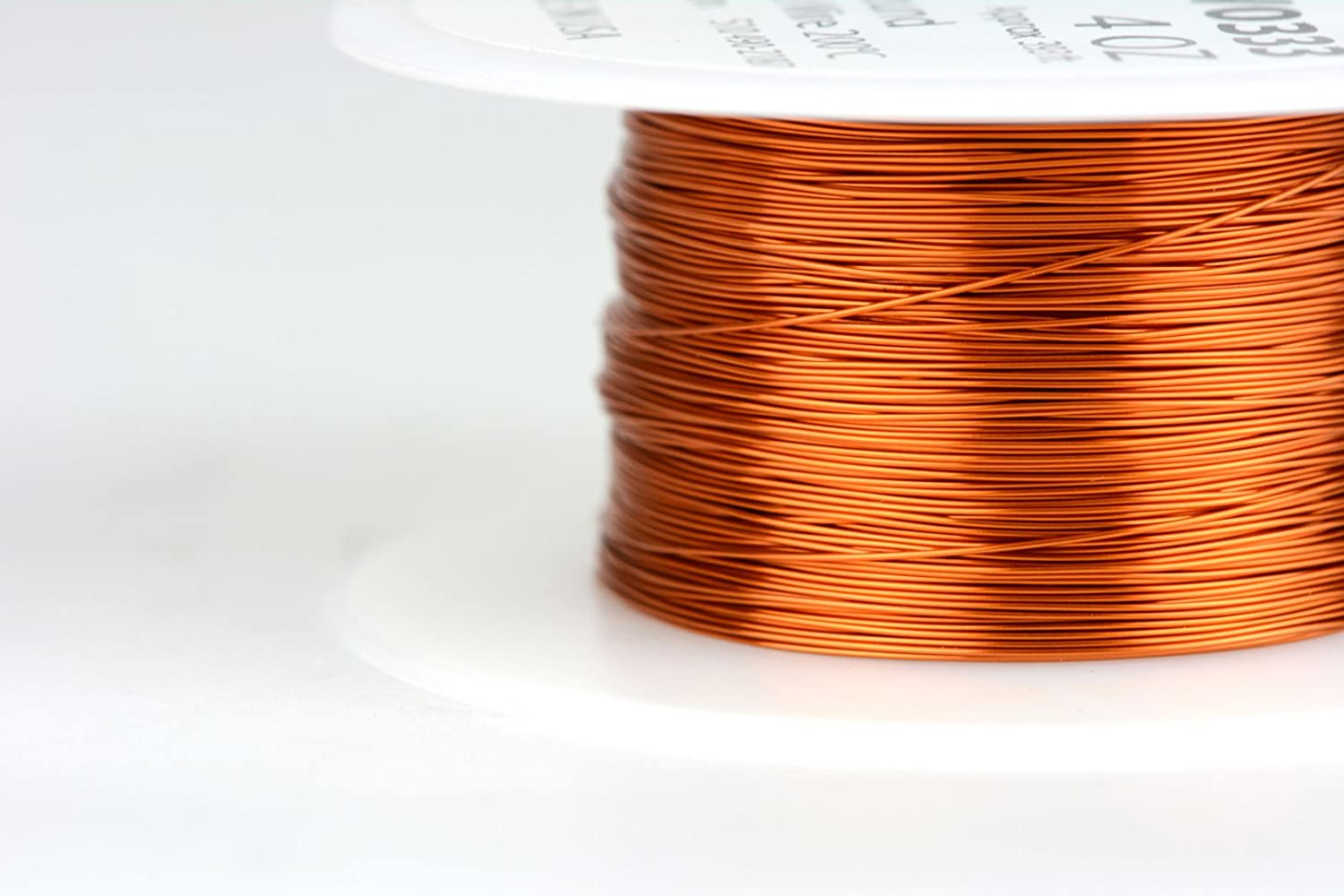 TEMCo 27 AWG Copper Magnet Wire 4 oz 393 ft 200/°C Magnetic Coil Winding