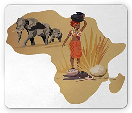 Amazon.: Safari Mouse Pad, Africa Map and Traditional Local