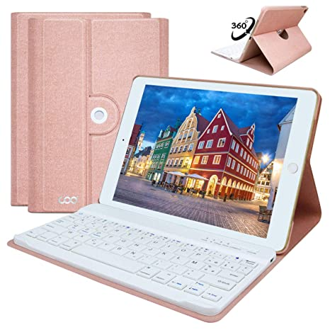 COO Funda con Teclado iPad 9.7, Cubierta con Teclado Bluetooth Desmontable para iPad Air 2