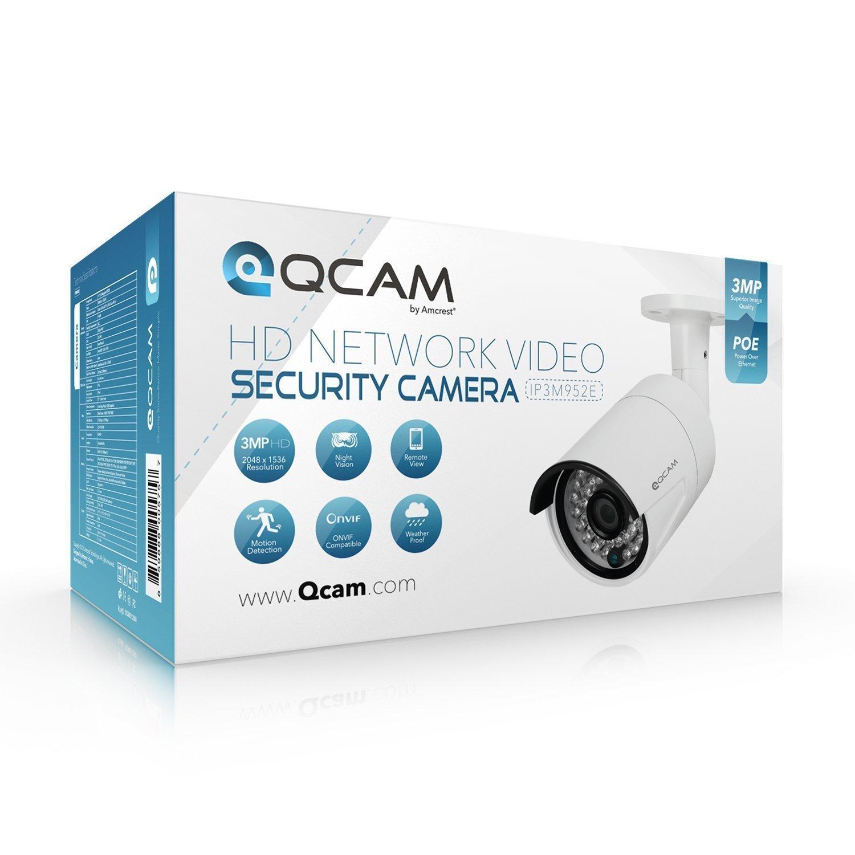 Amazon com : Qcam 1 0-Megapixel POE Weatherproof IP66 Bullet Camera