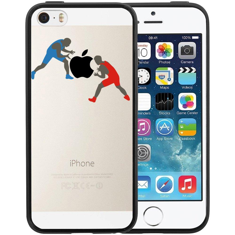 Funda iPhone SE, TrendyBox Transparente Negro Funda para iPhone 5 ...