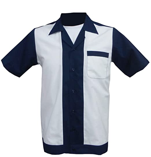 1950s 1960s Rockabilly Bowling Retro Vintage Men S Shirt Amazon