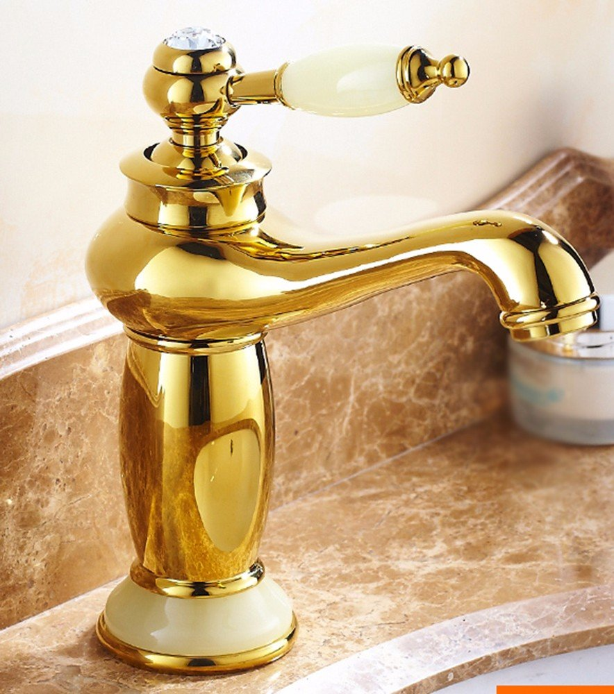 8 LHbox Basin Mixer Tap Bathroom Sink Faucet European style, copper basin, hot and cold, washing your face, jade, gold, sink Faucet 19