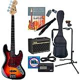 PhotoGenic エレキベース Amazonオリジナル12点 Pathfinder Bass10セット ジャズベースタイプ JB-240/SB サンバースト