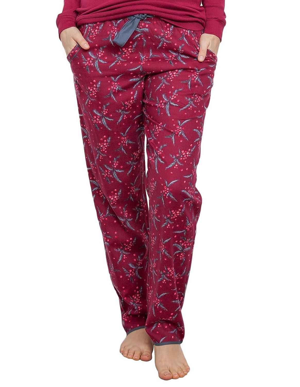 Cyberjammies 3852 Women's Holly Red Berry Print Pajama Pyjama Pant