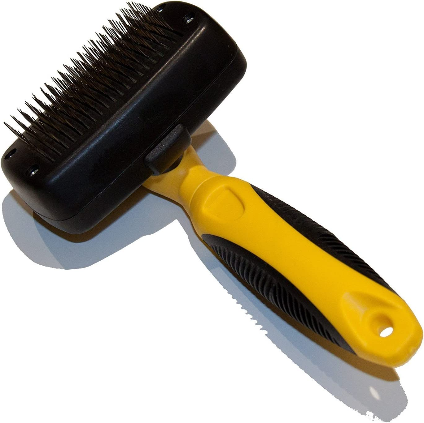 Best Grooming tool to Remove Detritus /& Undercoat Cats Rabbits Pet Republique /® Self-Cleaning Dog Slicker Brush for Dogs Any Long Haired Breed Pets