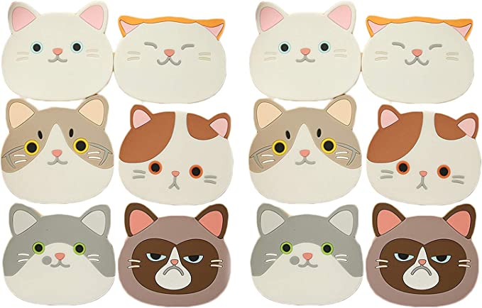 Practical Cat Shape Household Water Absorbing Cup Pad Drink Water Cup Mat BL