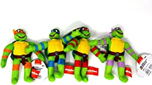 "Nickelodeon Ninja Turtle 7"" Plush Set of 4 by Good Stuff"