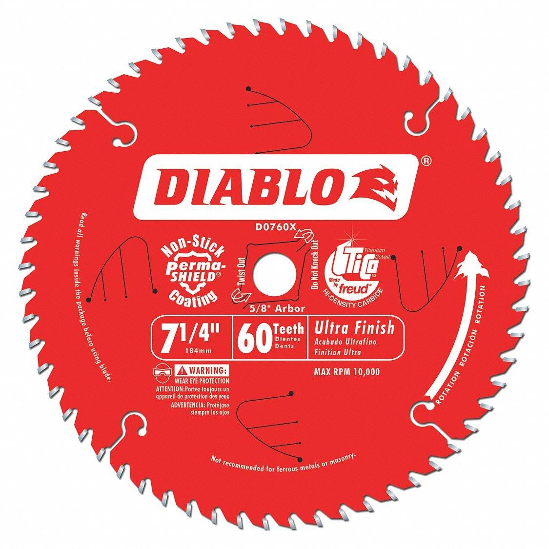 7-1/4'' Carbide Combination Circular Saw Blade, Number of Teeth: 60