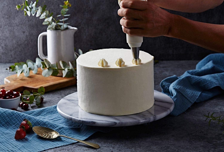 JEmarble大理石のケーキ回転台30cm-白/轉台Lazy Susan 12 inch(White) ケーキ装飾台 ターンテーブル 滑り止め加工 デコレーション用 製菓道具