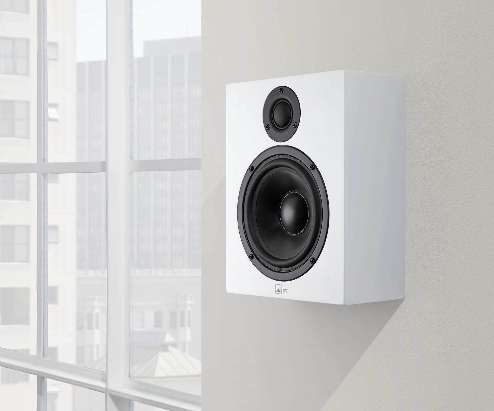 LYNGDORF MH-2 Audiophile wall-mountable 100-watt Satellite Speaker (Matte-White) by LYNGDORF