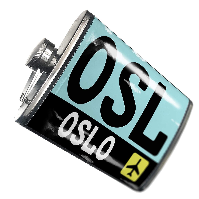 8オンスフラスコステッチAirportコードOSL /オスロノルウェー国:ステンレススチール – Neonblond   B00QQVGEPW