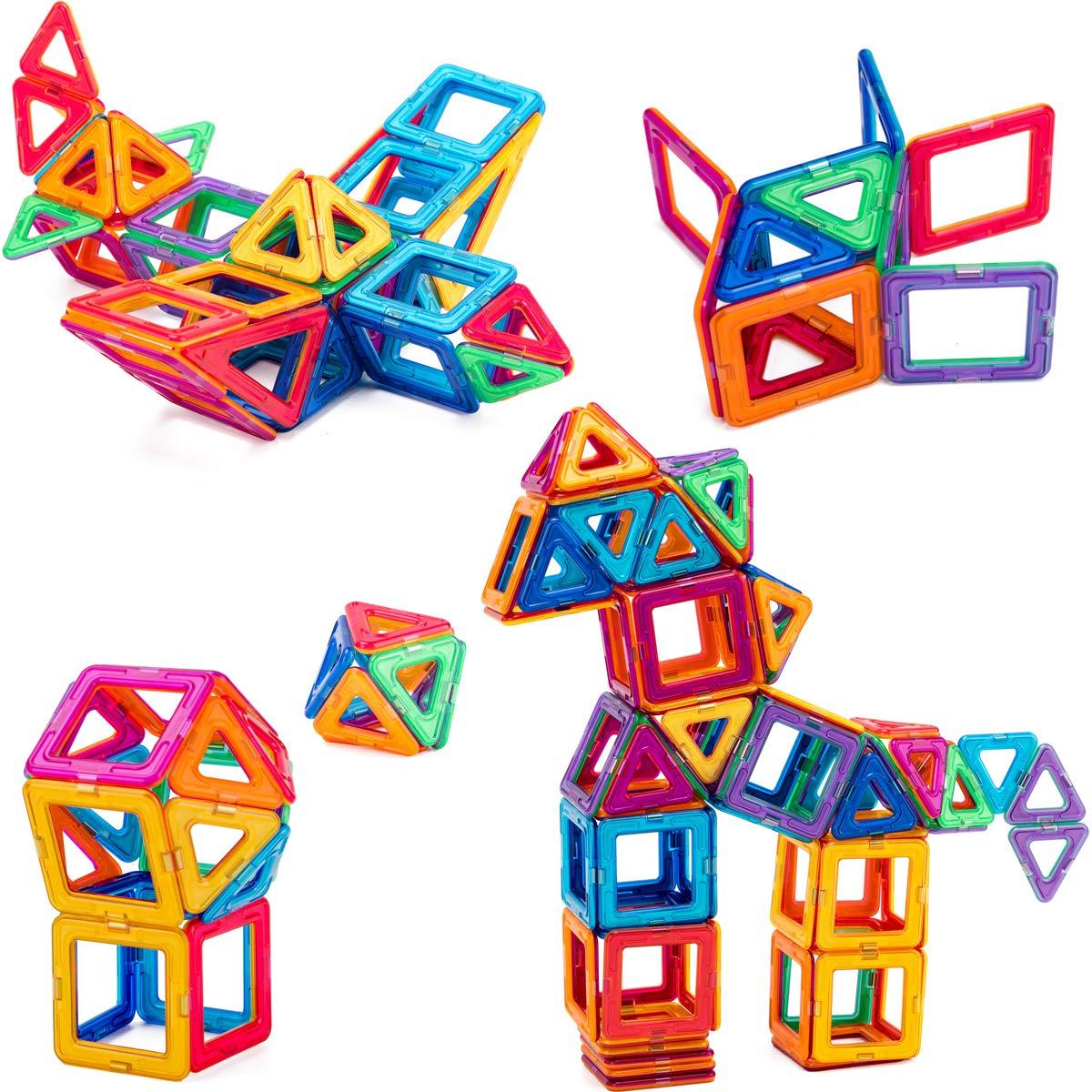 COSSY Magnet Tiles Building Block 45 PCs, Magnetic Stick ...
