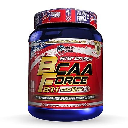 Muscle Force Bcaa Capsule, Aminoácidos Esenciales - 400 Capsulas