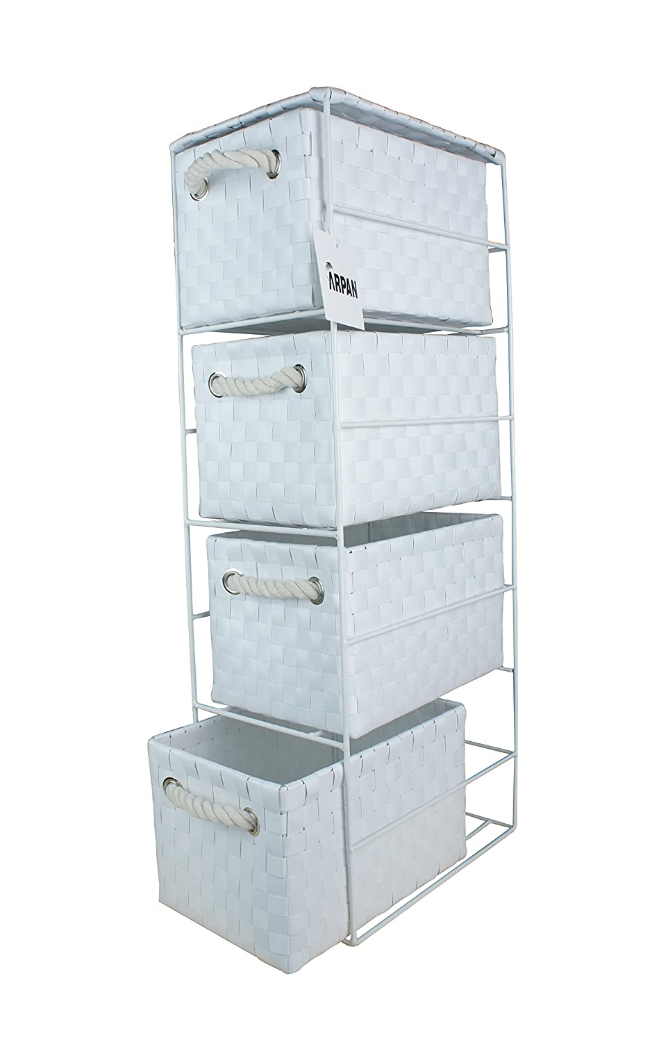 2 x 4 Drawer Storage Cabinet Unit for Bedroom/Bathroom/Home/Office ...