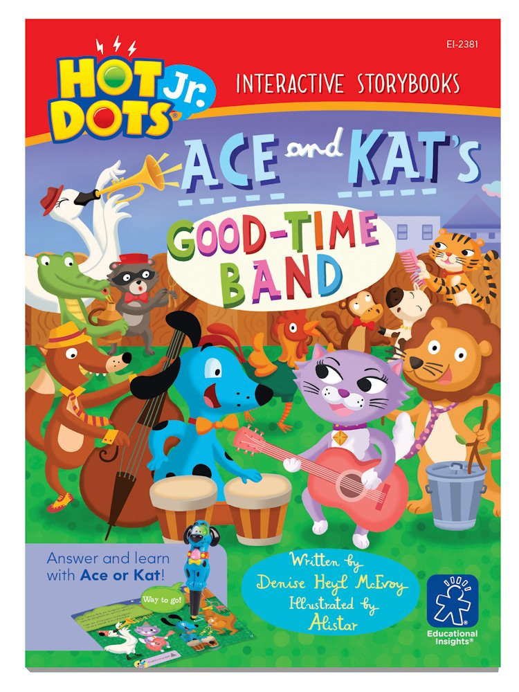 EDUCATIONAL INSIGHTS EI-2381R HOT DOTS JR Set von 6 ACE und KAT UND