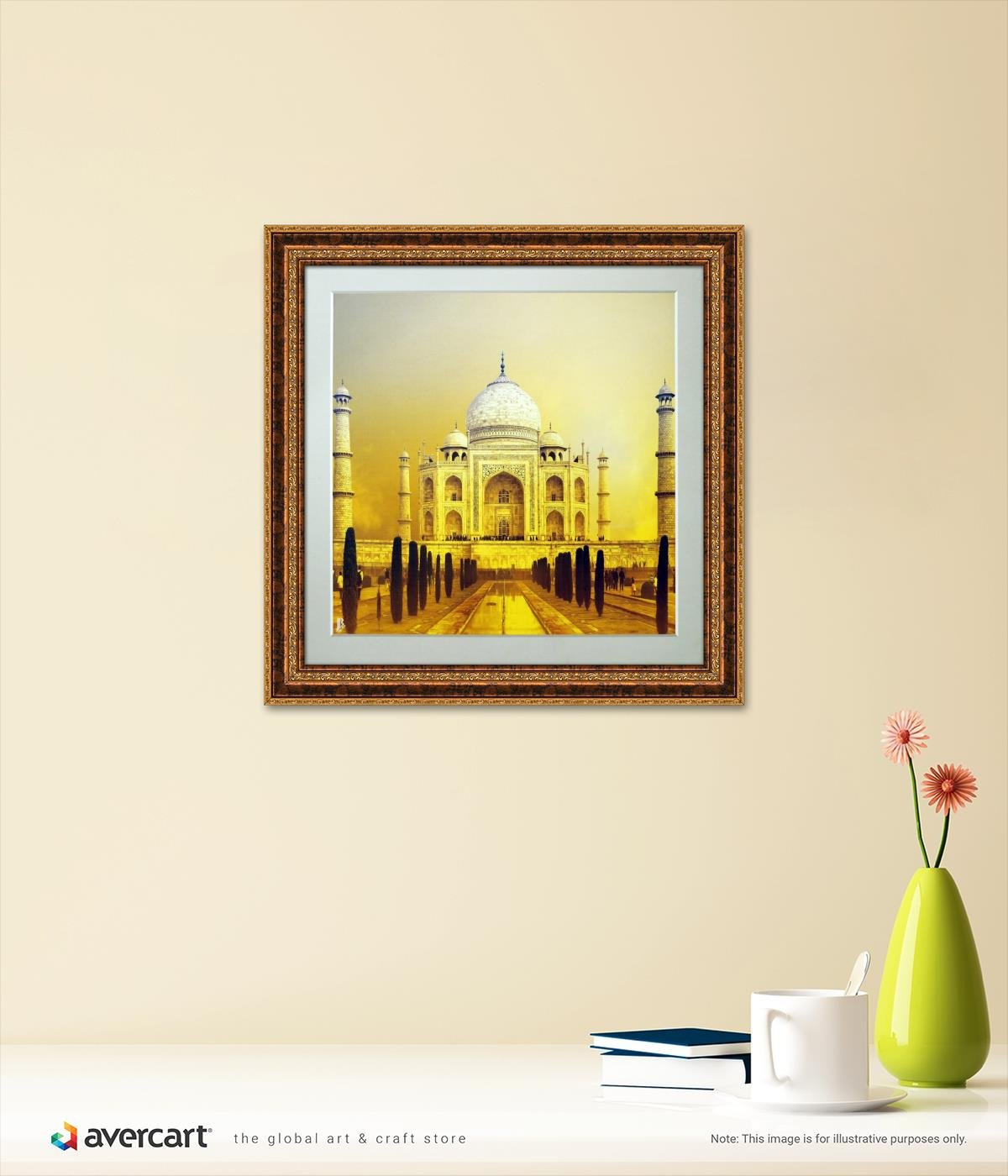 Avercart Taj Mahal / Tajmahal Poster 12x12 inch with Photo Frame ...