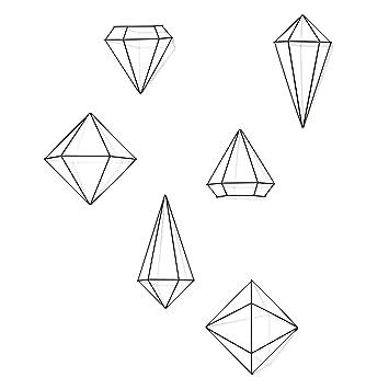 umbra prisma decorative accents set of 6 black - Decorative Accents