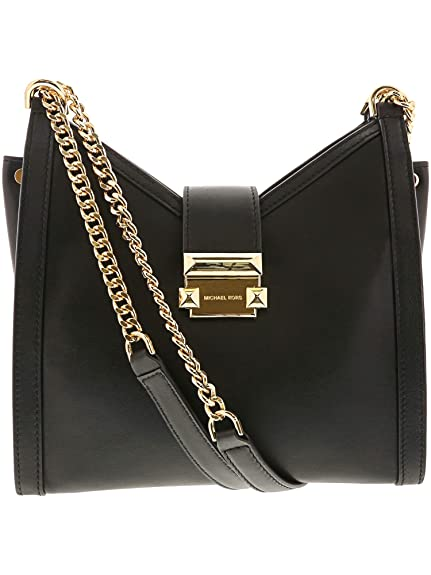 febae40fd MICHAEL Michael Kors Women's Leather Whitney Small Shoulder Bag Black One  Size: Amazon.co.uk: Shoes & Bags