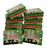Christmas Cookie gift boxes; rectangular with clear