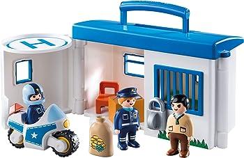 Playmobil 1.2.3 Take Along Police Station