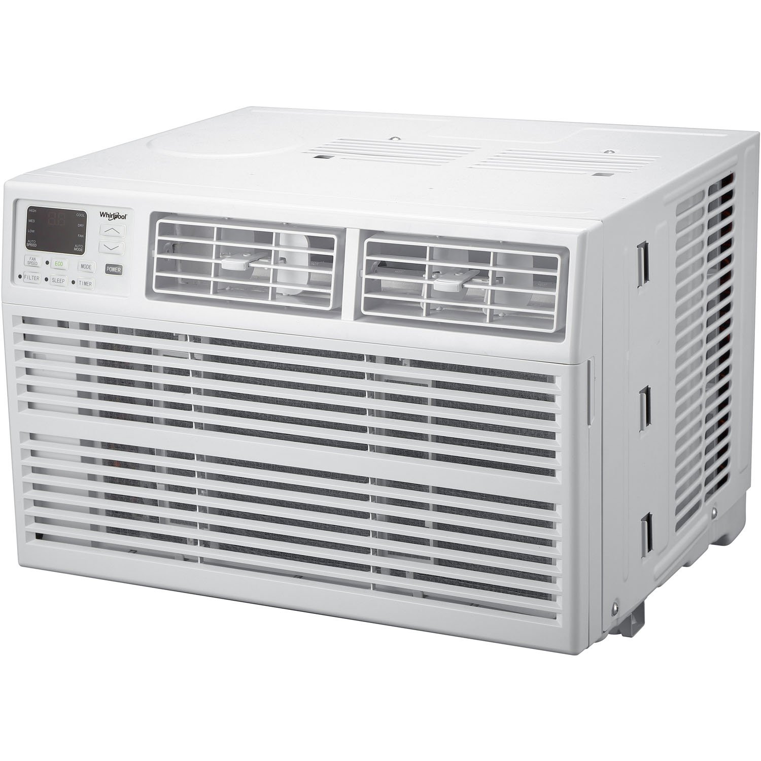 White Whirlpool Energy Star 12,000 BTU 115V Window-Mounted Air Conditioner with Remote Control