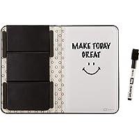 "Quartet Portable Glass Dry-Erase Pad, 5"" x 8"", Closeable Cover, Kickstand, Desktop, White Board, Notepad, Travel, Black…"