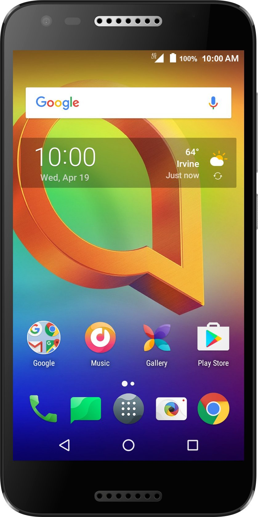 Alcatel A30 GSM Unlocked Smartphone (AT&T/T-Mobile) - 5'' HD Display, 16 GB, 5MP Selfie Camera, and Android 7.0 Nougat [Black]